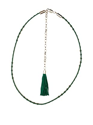 Cortefiel Cinturón Strass (Verde Oscuro)