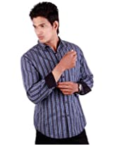 Levi's Brown and Blue mixed Checks full sleeves shirt for men | Size L | Color Multicolour