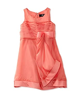 ABS Kids Girl's Organza Bow Dress (Peach)
