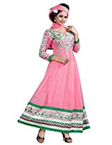 7 Colors Lifestyle Light Pink Coloured Embroidered Georgette Semi-Stitched Salwar Suit