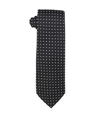 Yves Saint Laurent Men's Dot Block Tie, Black/White