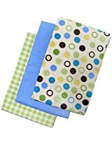 Naturally for Baby By NoJo - 3 Organic Flannel Blankets