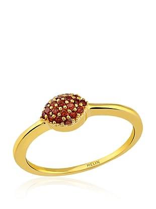 Melin Paris Anillo Granate (Dorado)