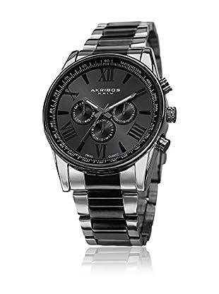 Akribos XXIV Uhr mit schweizer Quarzuhrwerk Man silberfarben/schwarz 45 mm