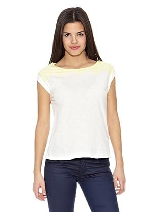 Springfield Camiseta Lace Amarillo (Blanco)