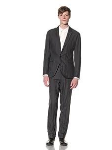 EDUN Men's One-Button Blazer (Charcoal)