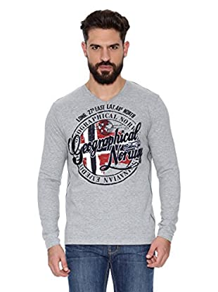 Geographical Norway Camiseta Manga Larga ML Jaroda Ls Men (Gris)