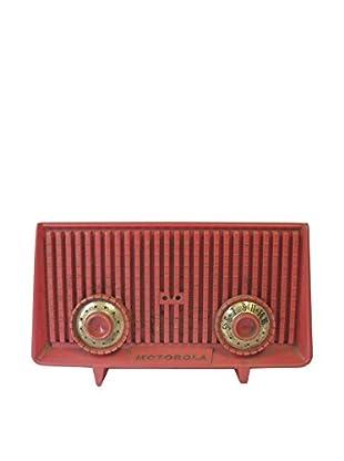 1950s Vintage Motorola Radio, Red/Gold