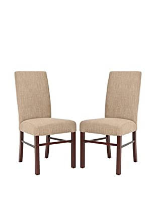 Safavieh Set of 2 Classic Side Chairs, Olive Beige