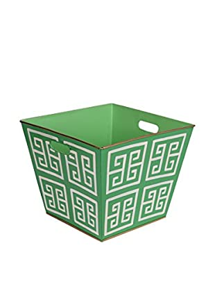 Jayes Greek Key Storage Bin, Green