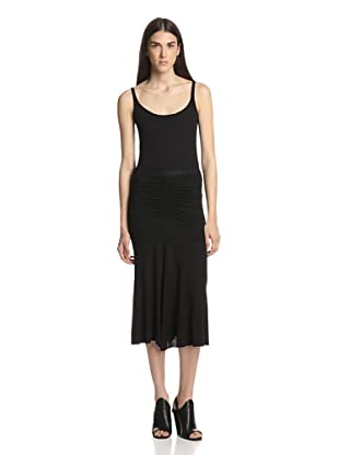 Rick Owens Lilies Women's Ruched Skirt (Black)