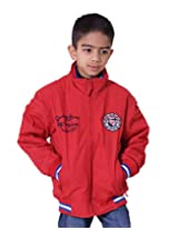 LITTLE BUGS Boy's Full Sleeve Cotton Jacket -Red