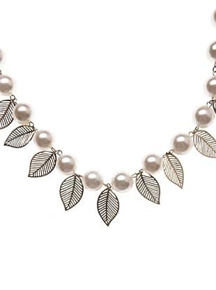Sigris Collar hojas Troqueladas (nácar)