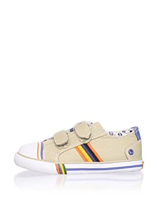 Pablosky Kid's Striped Sneaker (Beige)