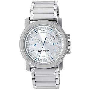 Fastrack Upgrades Analog Silver Dial Men's Watch - NE3039SM03