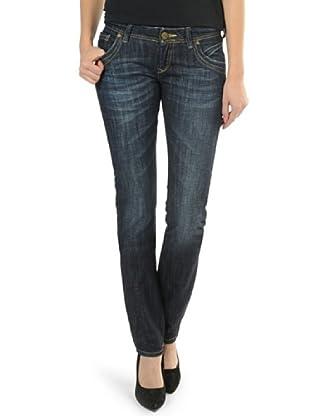 Cross Jeans Pantalón Vaquero Flora Slim Fit Regular Rise (Azul Vintage)