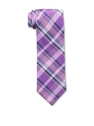 Bruno Piattelli Men's Plaid Silk Tie, Fuschia