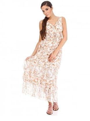 Cortefiel Kleid (Beige/Orange)