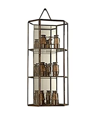 Sage & Co. Glass Hex Wall Display Case