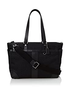 Coach Signature Multi-Function Baby Bag Tote, Black