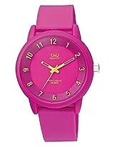 Q&Q Analog Pink Dial Unisex Watch - VR52J006Y