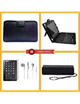 "VIZIO 7"" Tablet Case + In-the-ear Earphone + 7"" Tablet Screen Protector + Android Keyboard + 2600mAh Power Bank - Set of 5"
