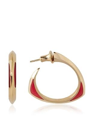 Katie Rowland Pink Pop Lilith Enamel Tri-2 Window Earrings