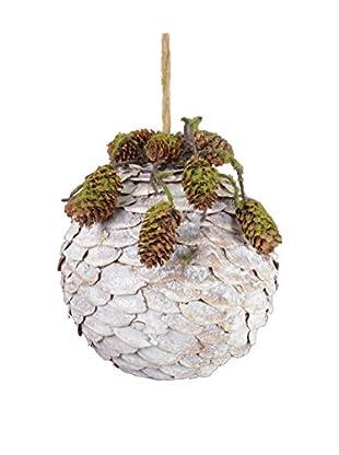 Fantastic Craft Spruce Cone Ball, White
