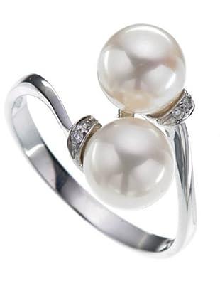 Emi Kawai Ring Weißgold 18k Perle 7,0 mm