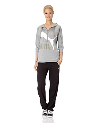 Puma Damen Top Logo Summer Cover-up (athletic gray heather)