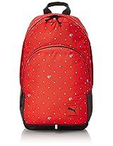 Puma Backpack (Cayenne/Polka Dot Graphic)