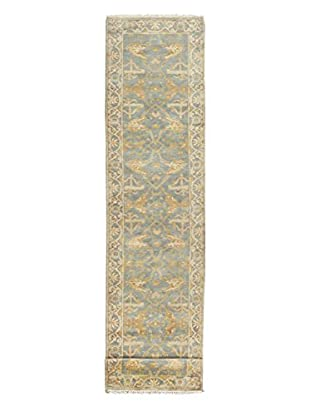 eCarpet Gallery One-of-a-Kind Hand-Knotted Royal Ushak Rug, Cyan, 2' 7