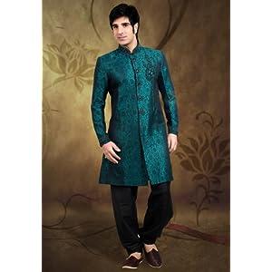 Utsav Fashion MJM215 Indo-Western Suit - Green