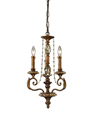 ELK Lighting Montavilla 3-Light Chandelier, Spanish Bronze