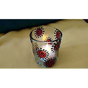 Hued Red Spiral Candle Holders