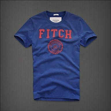 Abercrombie&Fitch アバクロ メンズ Tシャツ Baker Mountain/ブルー S【並行輸入品】