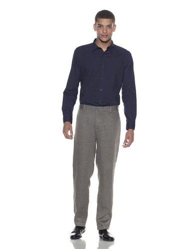 EDUN Men's Linen Rolled Hem Pant (Ash)