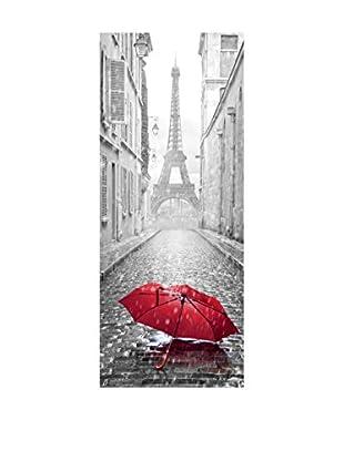 Ambiance Sticker Wandtattoo Door Eiffel Tower And Umbrella