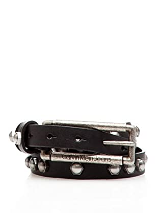 Calvin Klein Jeans Cinturón Piel Cw22Ar (Negro)