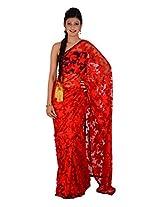 Inblue Fashions Net Saree (Inbsre054_Yellow)