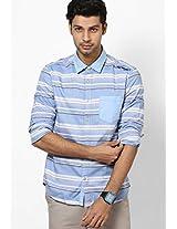 Blue Casual Shirts Ed Hardy