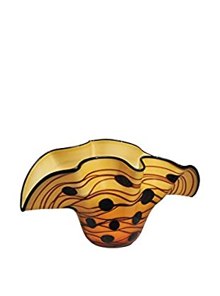 Dale Tiffany Clam Vase, Yellow Multi
