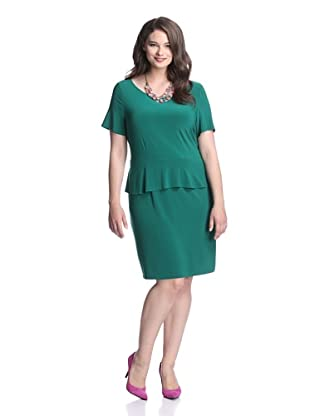 Taylor Women's Peplum Dress (Everglade)