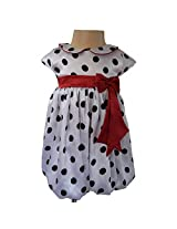 Faye Black & White Spotted Bubble Dress 1-2y
