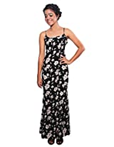 The Style Aisle Women's A-Line Maxi (TSA20_Black_Large)