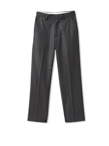 Ike Behar Boy's 8-20 Flat-Front Dress Pants (Charcoal)