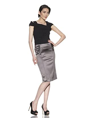 Philosophy Di Alberta Ferretti Women's Stretch Satin Skirt (Grey)