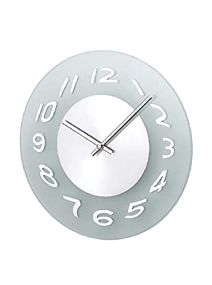 Mid Century Modern Aluminum Frosted Wall Clock