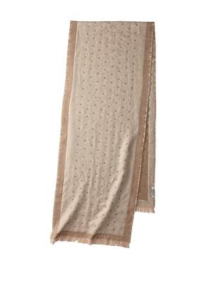 Valentino Women's Wool Polka Dot Scarf, Beige