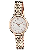 Fossil Jacqueline Analog White Dial Women's Watch - ES3799